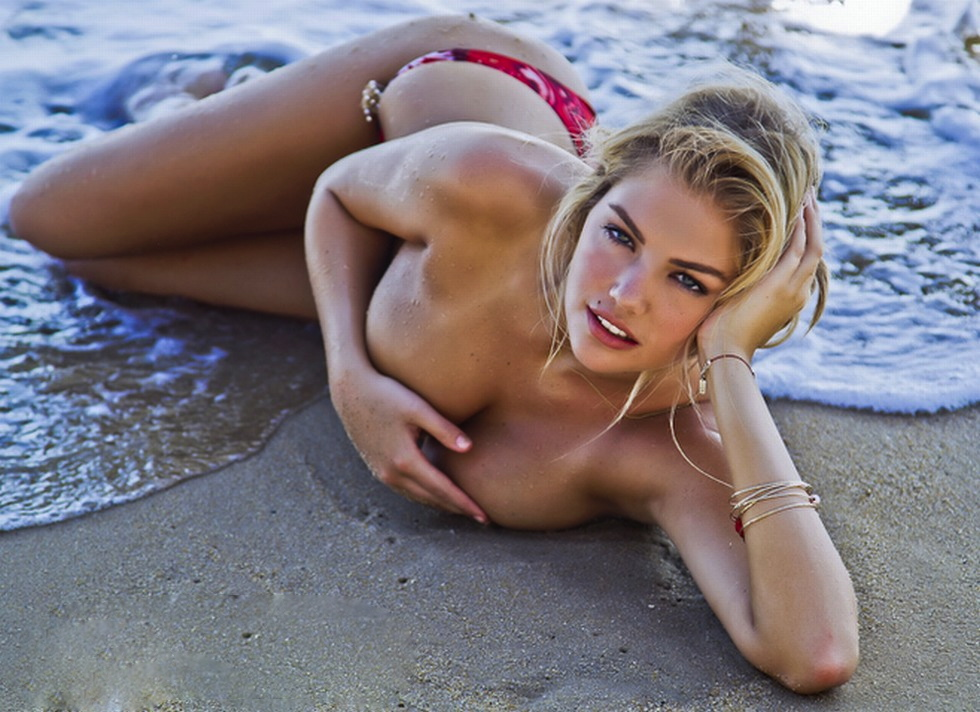 Kate Upton Poses Naked And In Sexy Animal Print Swimsuits And Dresses While Flashing The Flesh